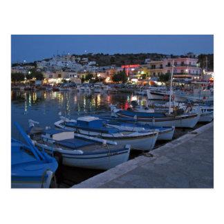 Elounda By Night Postcard