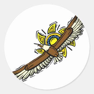 Elroy Eagle Round Sticker