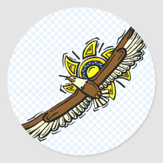 Elroy Eagle Round Stickers