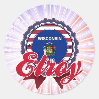 Elroy, WI Round Stickers