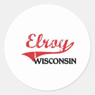 Elroy Wisconsin City Classic Round Sticker