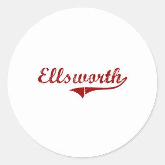 Elroy Wisconsin Classic Design Round Sticker