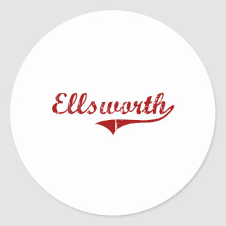 Elroy Wisconsin Classic Design Round Stickers