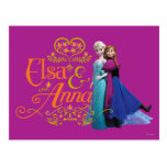 Elsa and Anna Standing Back to Back Post Card