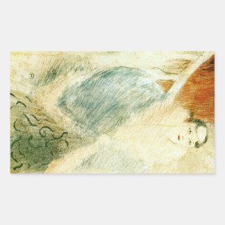 Elsa dite la Liennoise by Toulouse-Lautrec Rectangle Stickers