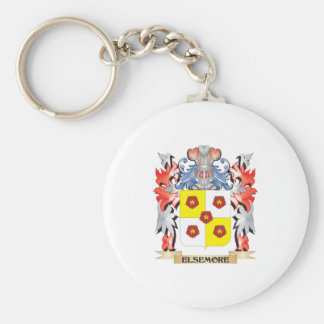 Elsemore Coat of Arms - Family Crest Basic Round Button Key Ring