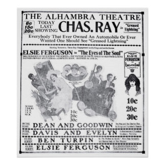 Elsie Ferguson 1919 vintage movie ad poster
