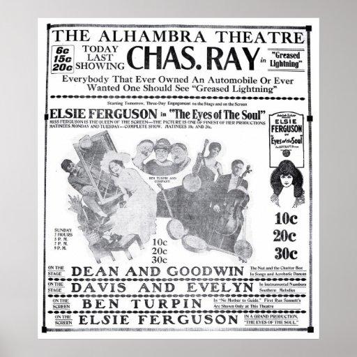 Elsie Ferguson 1919 vintage movie ad poster