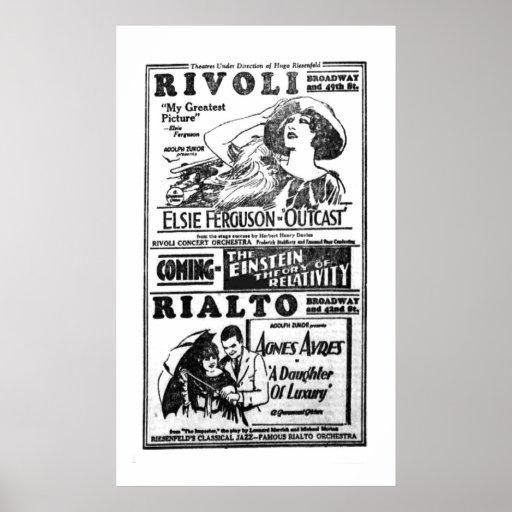 Elsie Ferguson 1922 vintage movie ad poster