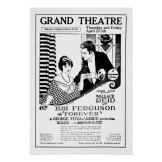 Elsie Ferguson 1922 vintage movie ad poster