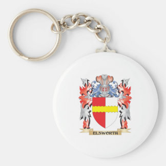 Elsworth Coat of Arms - Family Crest Basic Round Button Key Ring
