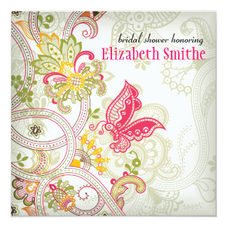 Elusive Butterfly Bridal Shower Invitation