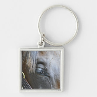 Elusive Quality Filly Silver-Colored Square Key Ring
