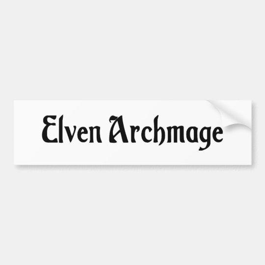 Elven Archmage Bumper Sticker