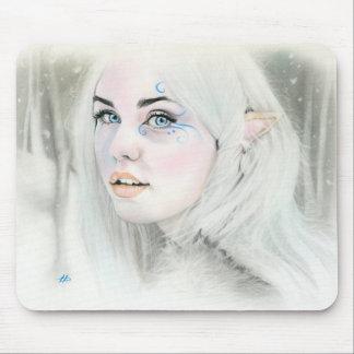 Elven snow queen mousepad