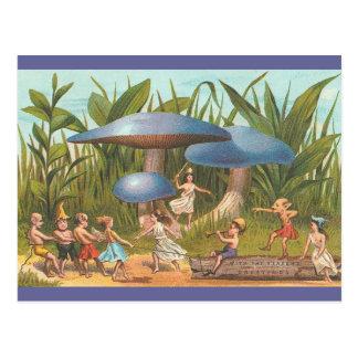 Elves and Fairies in Mushroom Land Postcard