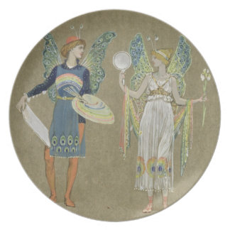 Elves and Fairy Painters, from 'The Snowman' 1899 Dinner Plates