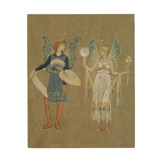 Elves and Fairy Painters, from 'The Snowman' 1899 Wood Wall Art