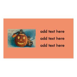 Elves Goblins Candle Jack O' Lantern Pumpkin Pack Of Standard Business Cards