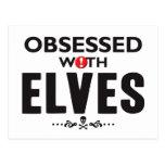 Elves Obsessed Postcard