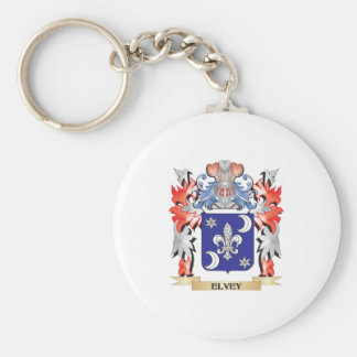 Elvey Coat of Arms - Family Crest Basic Round Button Key Ring