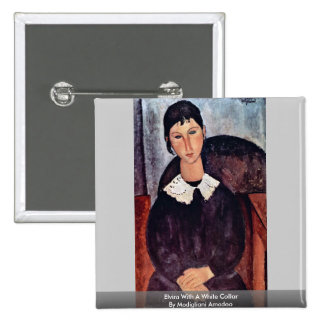 Elvira With A White Collar By Modigliani Amedeo Pins