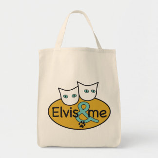 'Elvis a& Me' Logo Grocery Tote Grocery Tote Bag