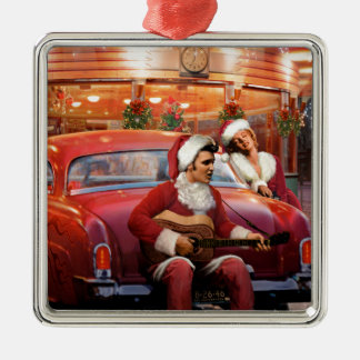 Elvis and Marilyn Christmas Christmas Ornament