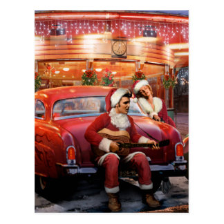 Elvis and Marilyn Christmas Postcard