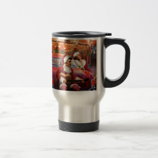 Elvis and Marilyn Christmas Travel Mug
