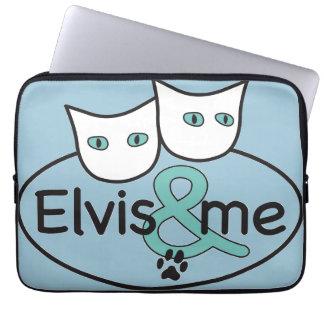 """'Elvis & me' 13""""-14"""" Light Blue Laptop Sleeve"""
