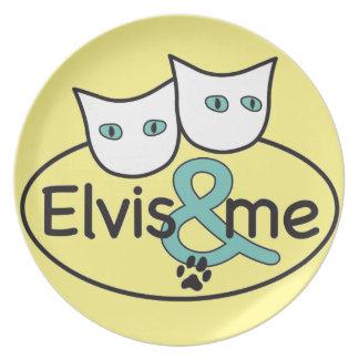 'Elvis & me' Light Yellow Melamine Plate