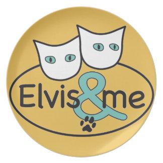 'Elvis & me' Yellow Melamine Plate