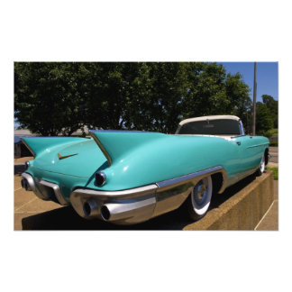 Elvis Presley s Green Cadillac Convertible in Photo Art