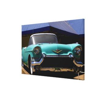 Elvis Presley's Green Cadillac Convertible in Canvas Print