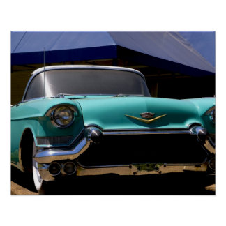 Elvis Presley's Green Cadillac Convertible in Poster