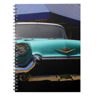 Elvis Presley's Green Cadillac Convertible in Spiral Notebook