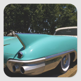 Elvis Presley's Green Cadillac Convertible in Square Sticker
