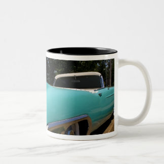 Elvis Presley's Green Cadillac Convertible in Two-Tone Coffee Mug