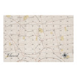 Elwood Treasure Map (version 2) Poster