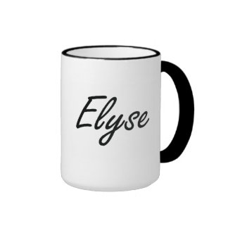 Elyse artistic Name Design Ringer Mug