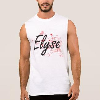 Elyse Artistic Name Design with Hearts Sleeveless Shirt