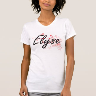 Elyse Artistic Name Design with Hearts Shirt