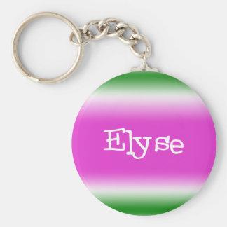 Elyse Basic Round Button Key Ring