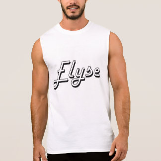 Elyse Classic Retro Name Design Sleeveless Tees