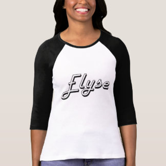 Elyse Classic Retro Name Design T-shirts