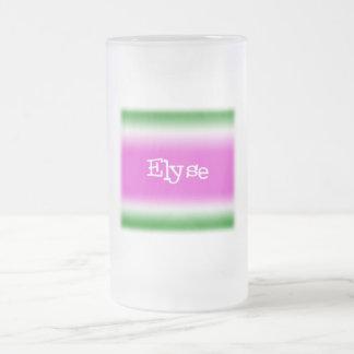 Elyse Frosted Glass Mug