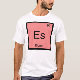 Elyse Name Chemistry Element Periodic Table T-Shirt