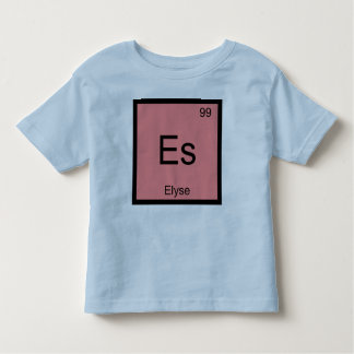 Elyse Name Chemistry Element Periodic Table Shirts