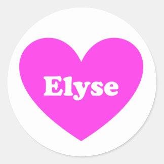 Elyse Round Sticker